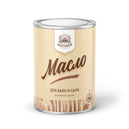 Масло по дереву для бань и саун «Мартьянов» - фото 4959