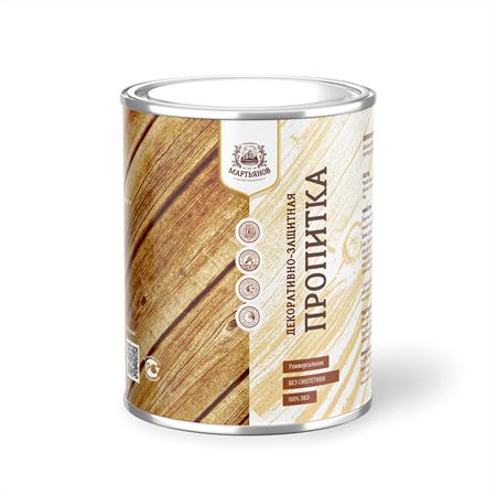 Универсальная декоративно-защитная пропитка «Мартьянов» для внутренних и наружных работ - фото 5176