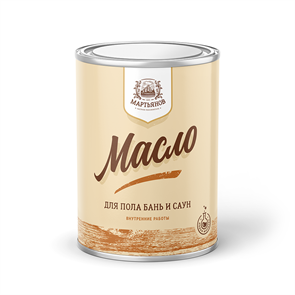 Масло для пола бань и саун «Мартьянов»